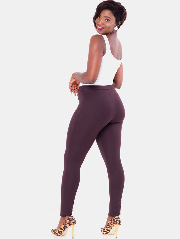 Vivo Tulia Leisure Pants - Chocolate Brown