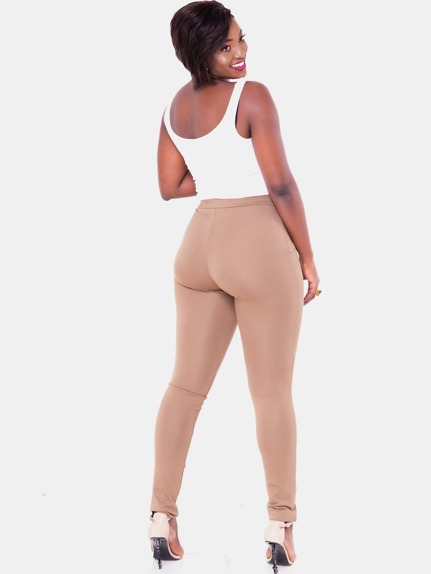 Vivo Tulia Leisure Pants - Taupe