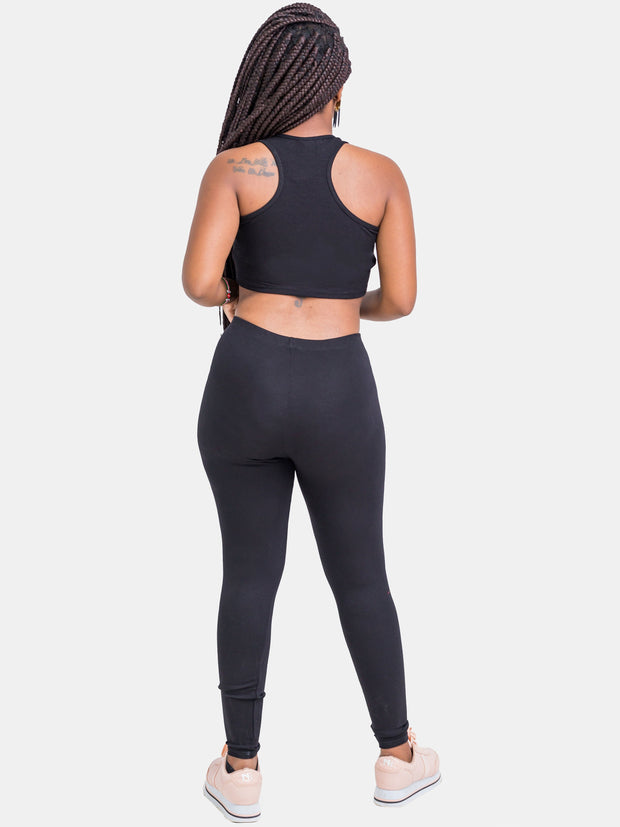 Zetu Full Length Leggings - Black