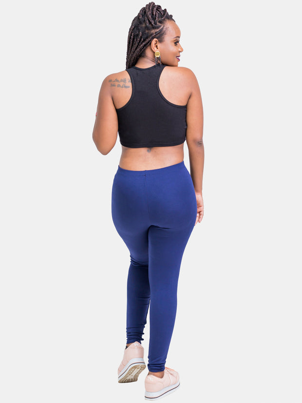 Zetu Leggings - Navy Blue