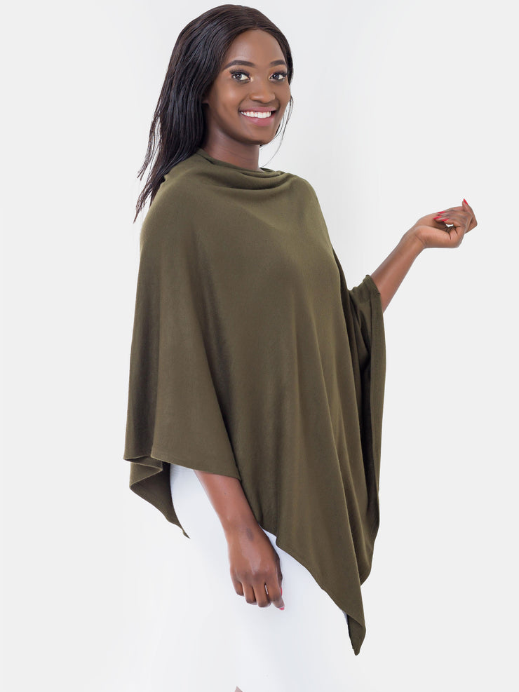 Vivo Off Shoulder Poncho, Hunters Green