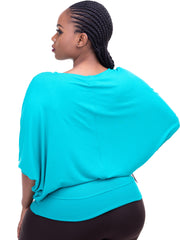 Vivo Tolani Jersey Dolman Top - Sea Green