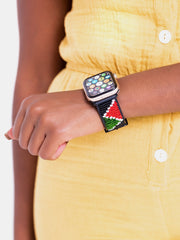 Beaded Apple Watch Strap KE Kizingo - Black