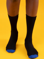 Afrokiks Two Tone Afro Socks - Black/Blue