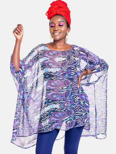Vivo Liv Chiffon Top - Purple Print