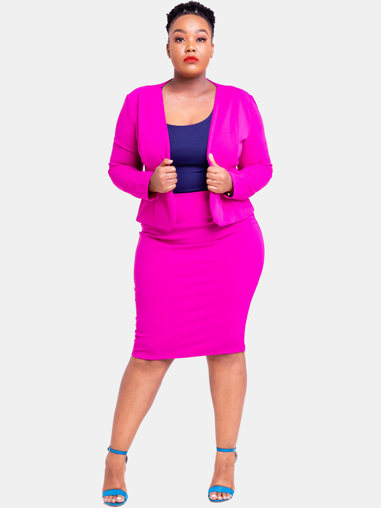 Vivo Escape Pencil Skirt - Fuschia