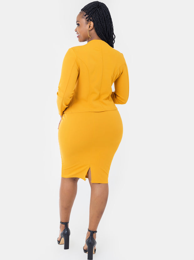 Vivo Escape Pencil Skirt - Mustard