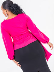 Vivo Olivia Bishop Sleeve Top - Pink