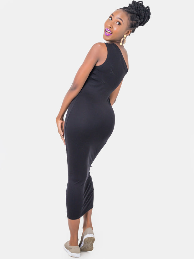 Zetu Jersey One Shoulder Bodycon