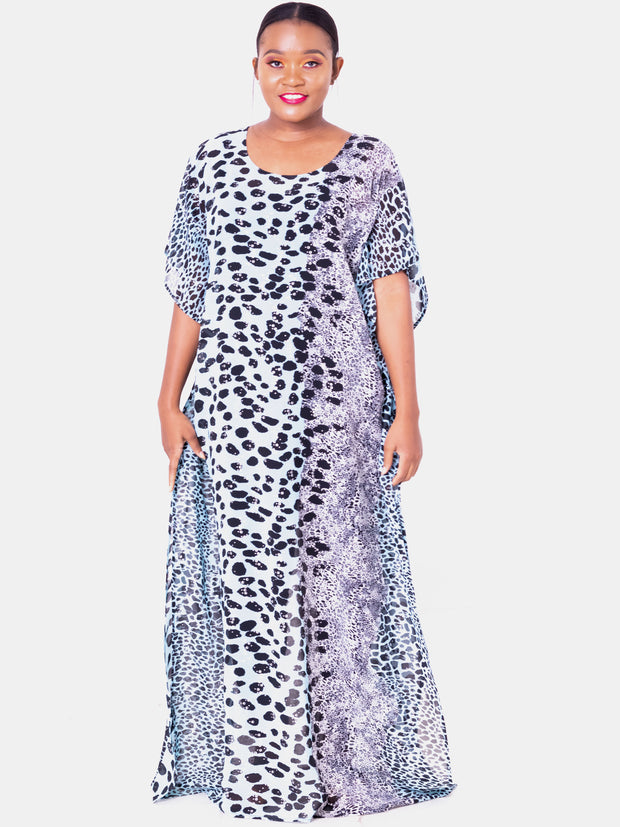 Vivo Liv Chiffon Maxi - Light Blue Print