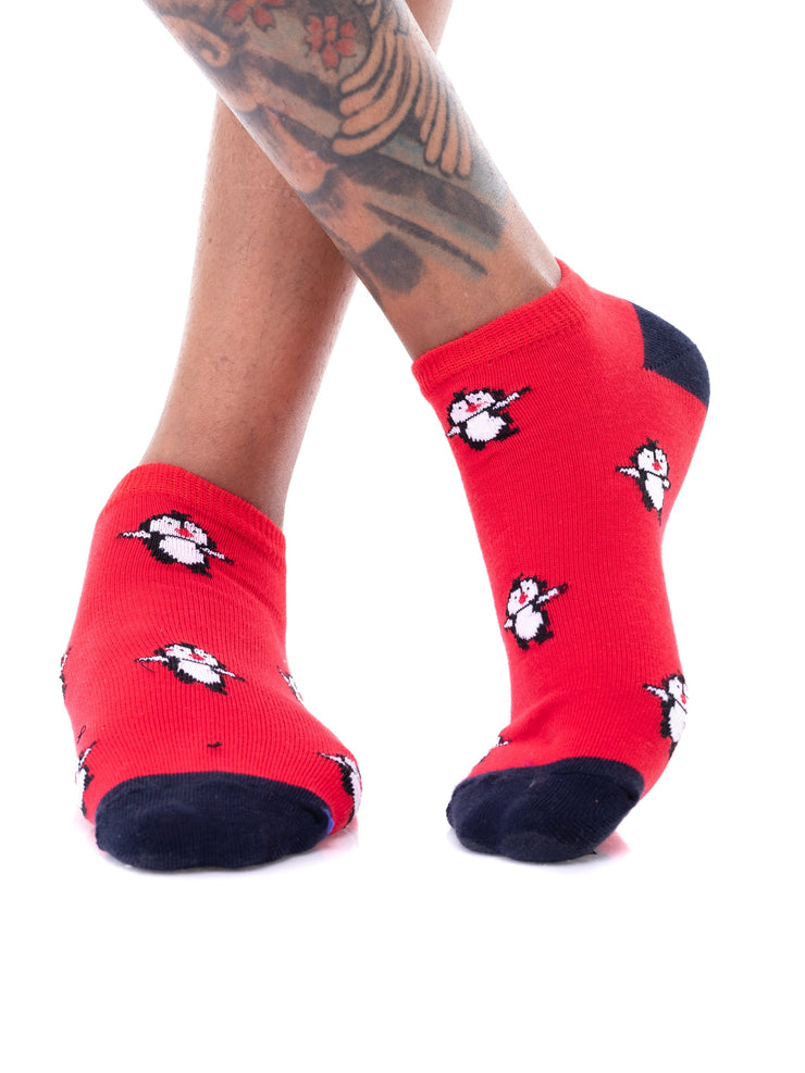 Afrokiks Flipper Socks - Red/Black