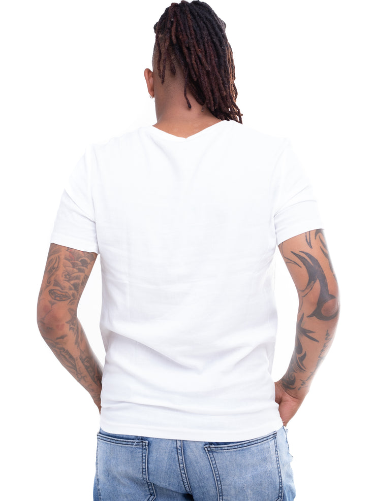 Naiwear Deer Graphic Roundneck T-Shirts - White