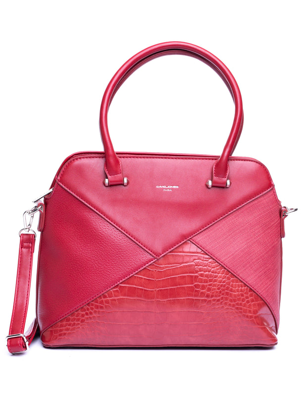 Odells Textured Bag - Dark Red