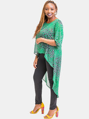 Vivo Nalia  High-Low Top - Green Print