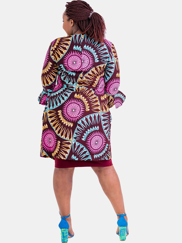 Kidosho Pambo Long Coat - Pink Circle Print