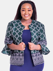 Kidosho Pambo Short Coat - Green Print