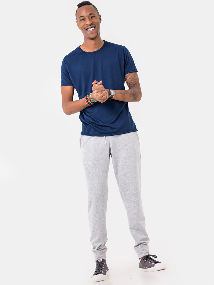 Zetu Basic Long Fleece Unisex Joggers - White