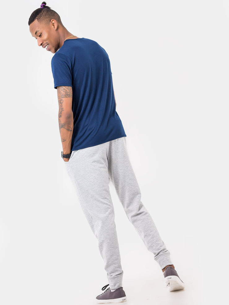 Zetu Basic Long Fleece Unisex Joggers - White - Shop Zetu