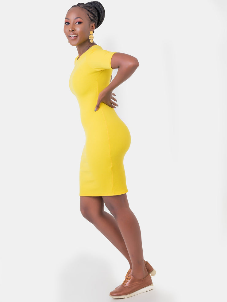 Zetu Rugby Mini Dress - Yellow
