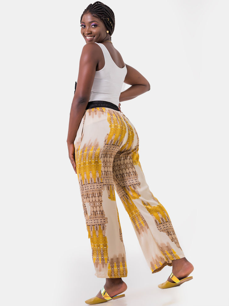 Hijabeefied Regular Satin Pants - Gold