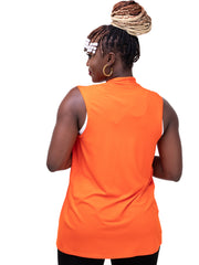 Vivo Basic Sleeveless Jersey Waterfall - Orange