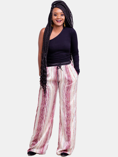 Hijabeefied*Vivo Regular Satin Pants - Peach
