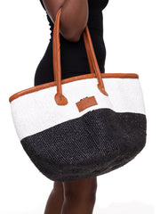 "Crafts with Meaning 12"" Kiondo - Black / White"