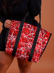 Crafts with Meaning Shopping Bag - Red / White Print