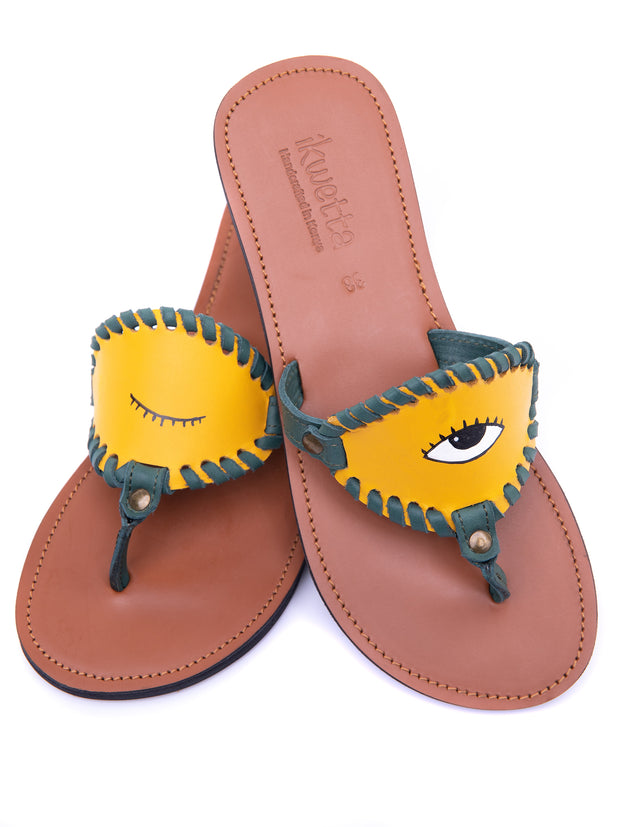 Ikwetta Nikki Sandals - Yellow