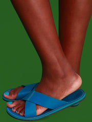 Ikwetta Pop N Slide Sandals - Blue