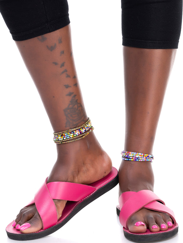 Ikwetta Pop N Slide Sandals - Pink