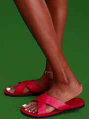 Ikwetta Pop N Slide Sandals - Red