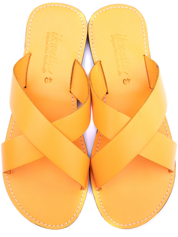 Ikwetta Pop N Slide Sandals - Yellow