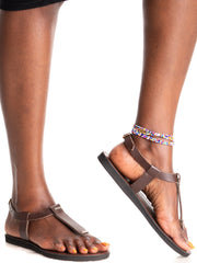 Ikwetta Switcher Sandals - Chocolate