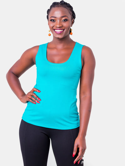 Vivo Val Tank Top - Sea Blue - Shop Zetu