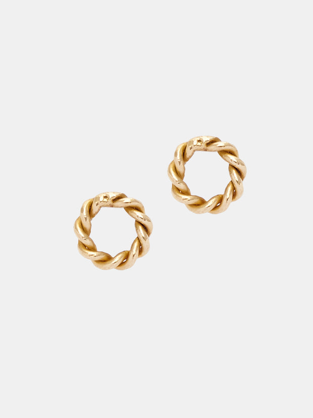 Kipato Tiny Braided Studs - VivoWoman