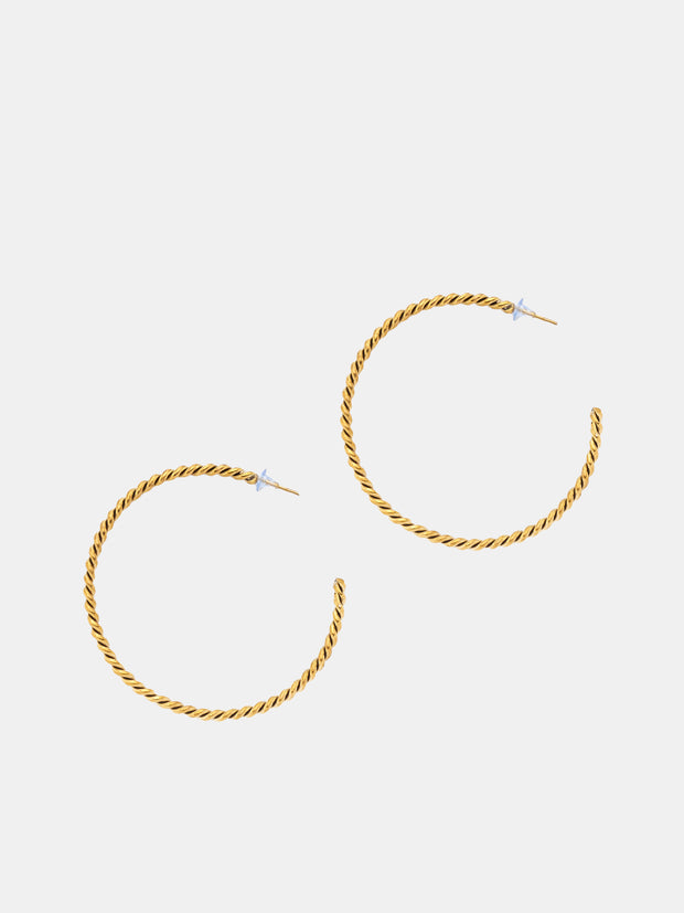 Kipato Braided Hoops (Medium) - VivoWoman