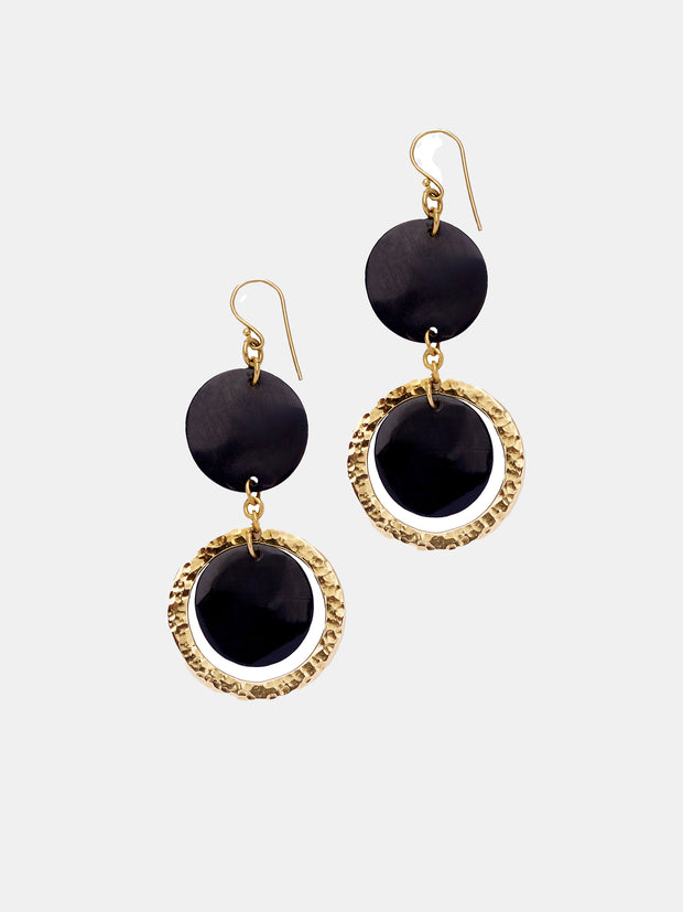 Kipato Blueberry Earrings - Black