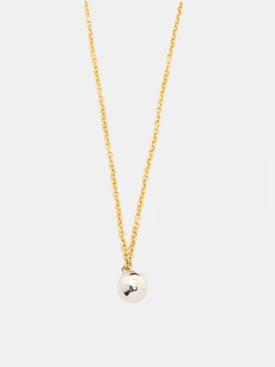 Kipato Mixed Brass & Silver Ball Necklace