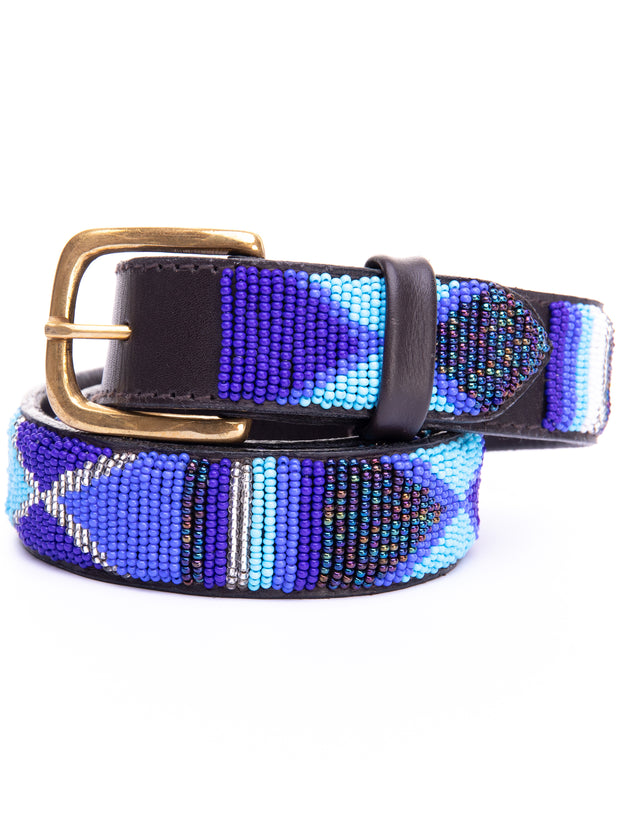 Azu Casual 3 Cm Beaded Belts - Blue Print
