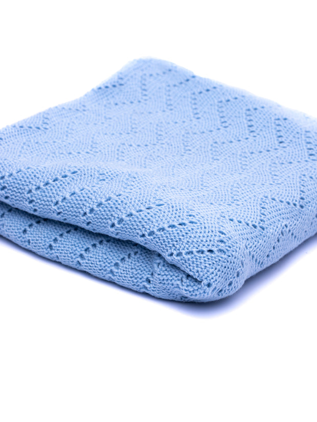 Spinners & Spinners Baby Shawl - Light Blue