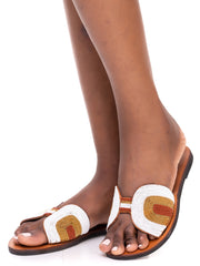 Oye Africa Emma Butterfly Sandals - Beaded Print
