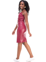 ForKeeps Leather Dress - Red
