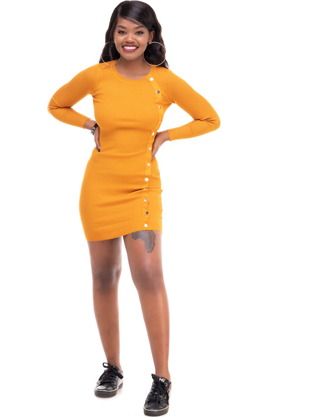 ForKeeps Knitted Dress - Mustard