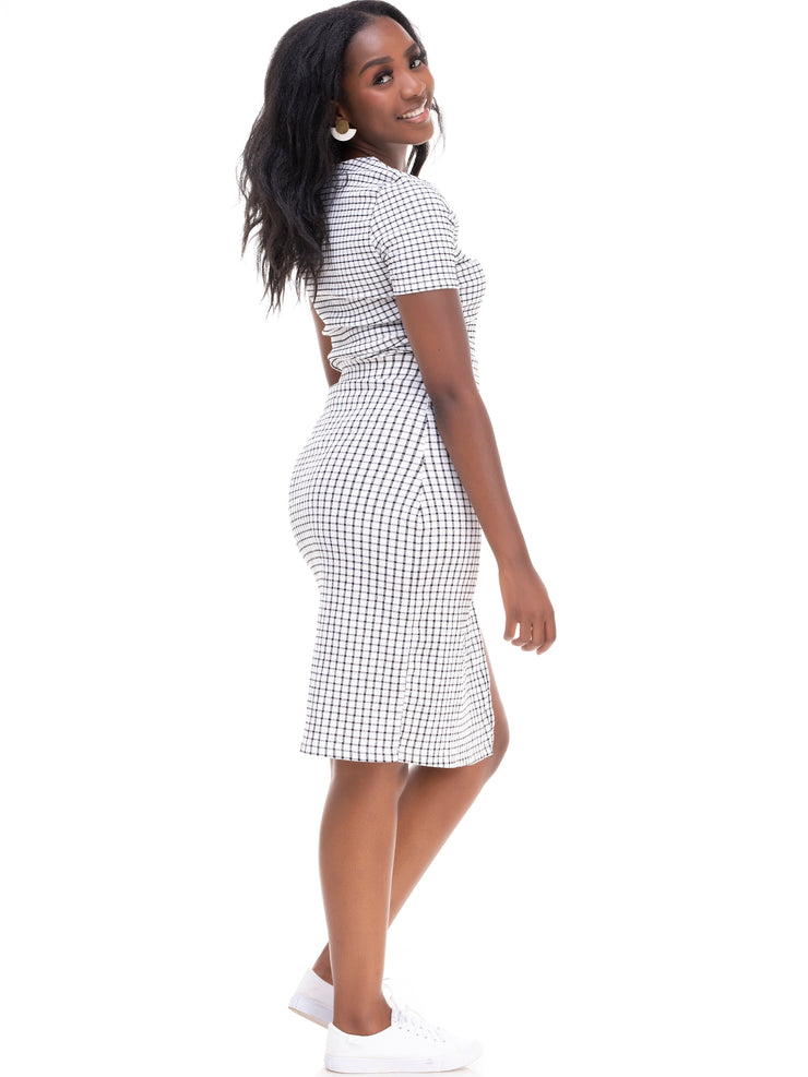 ForKeeps 2 Piece Skirt - White Print