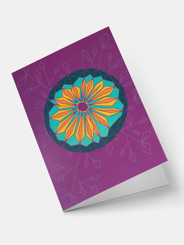 Lulu African Flowers Daisy Greeting Cards - Purple