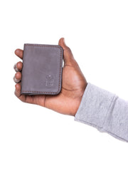Eden Leather Card Holder  - Brown
