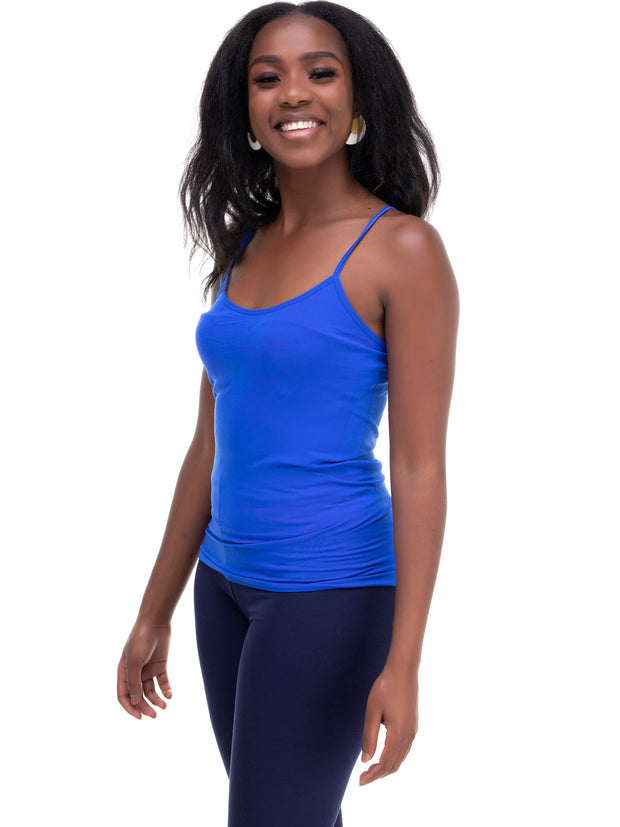 Rokens Collection Spaghetti Strap Top - Royal Blue