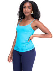 Rokens Collection Spaghetti Strap Top - Sea Blue