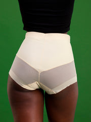 Rokens Collection Seamless High Waist Panties - Beige
